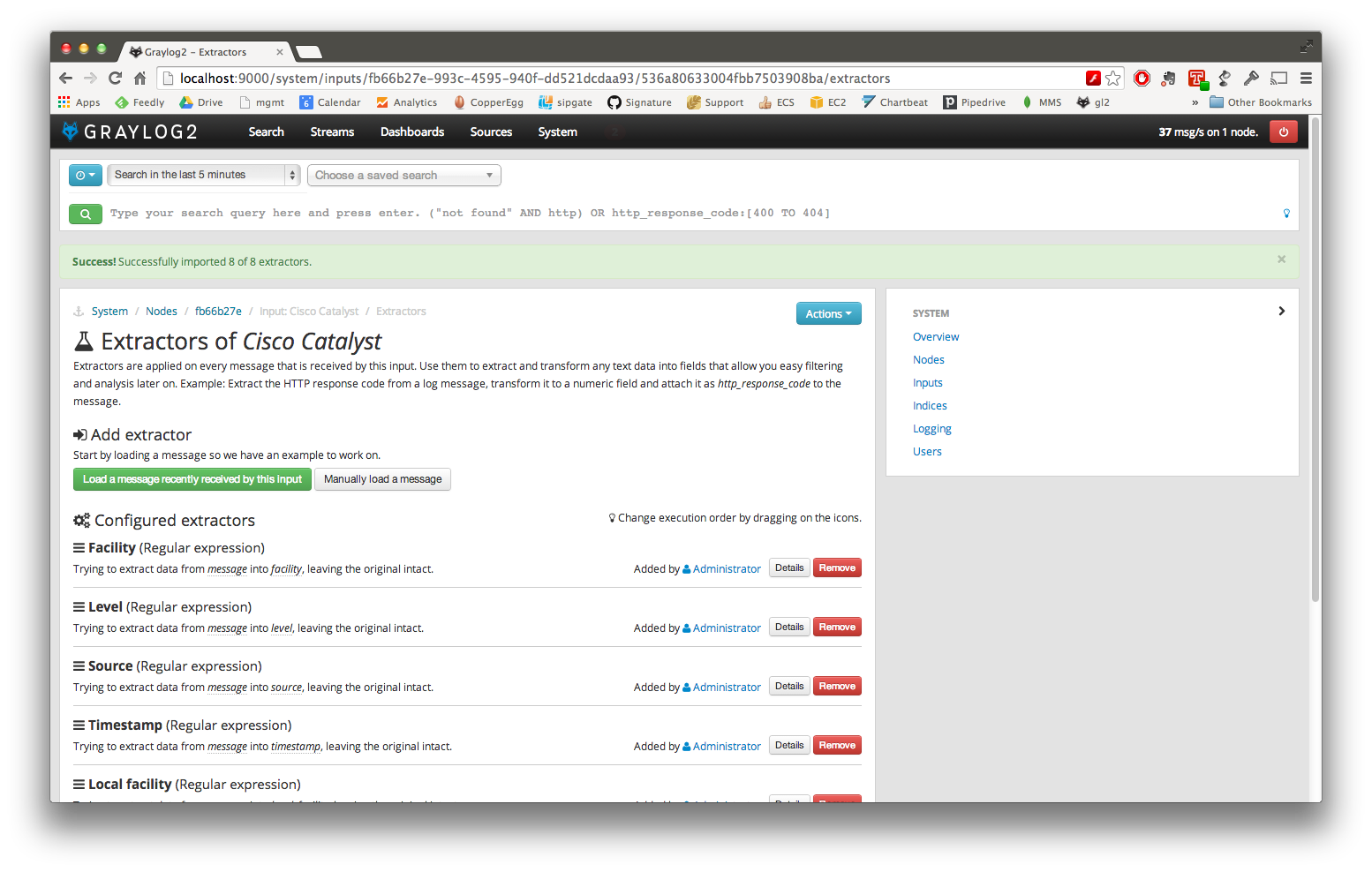 graylog2-import-extractor
