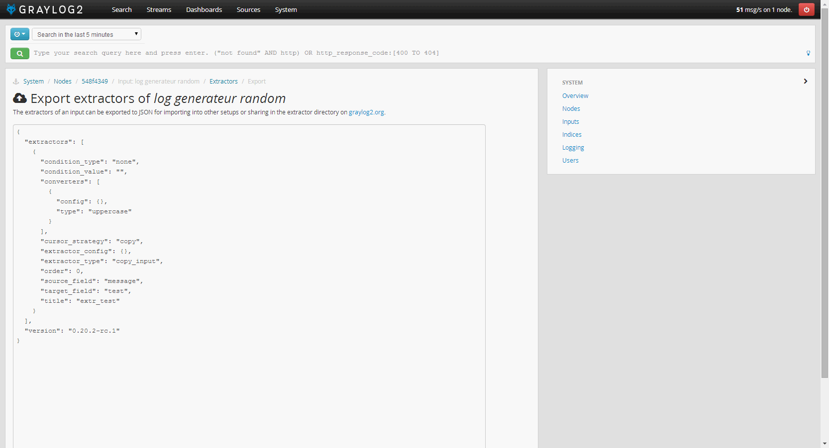 graylog2_export_extractor